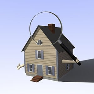 Childress Chimney Services - Real Estate Chimney Inspections, image of a house with a magnifying glass over the chimney