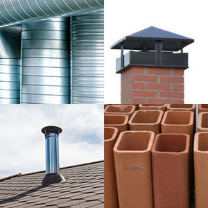 Childress Chimney Services - Repairs, collage of liners, flues, and caps